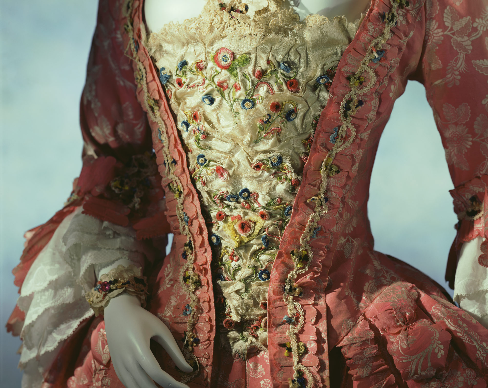 Stomacher 1760s switzerland