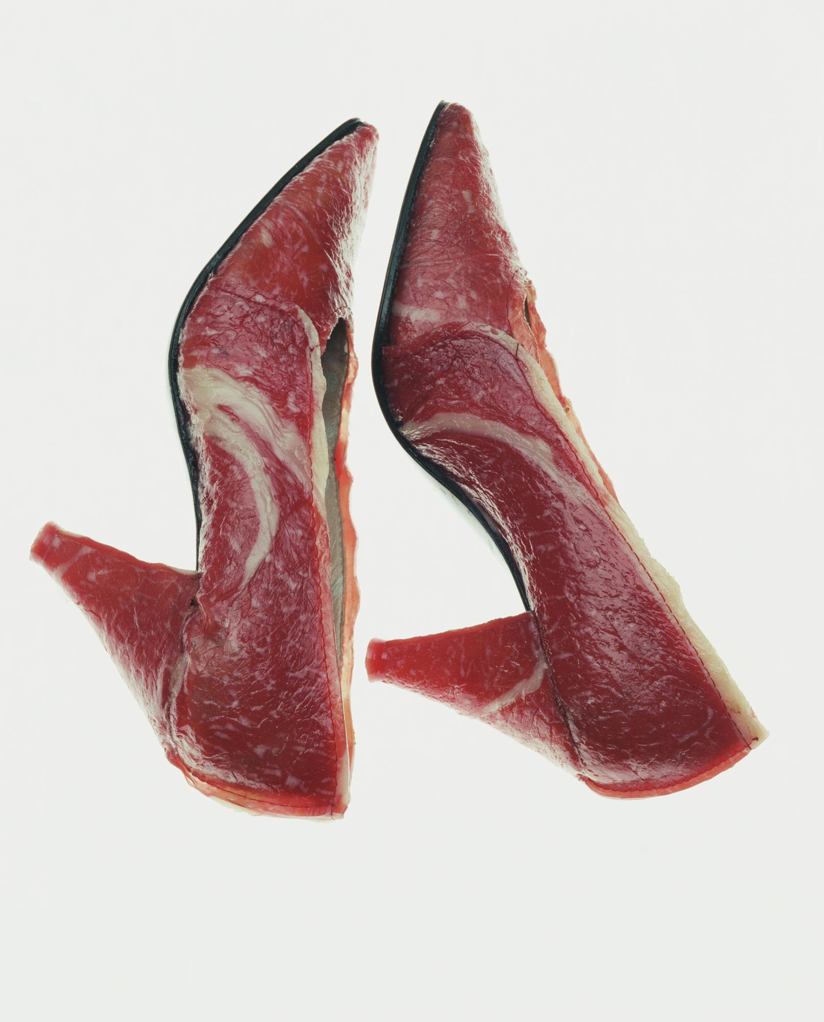 パンプス「食べる靴−すき焼き」