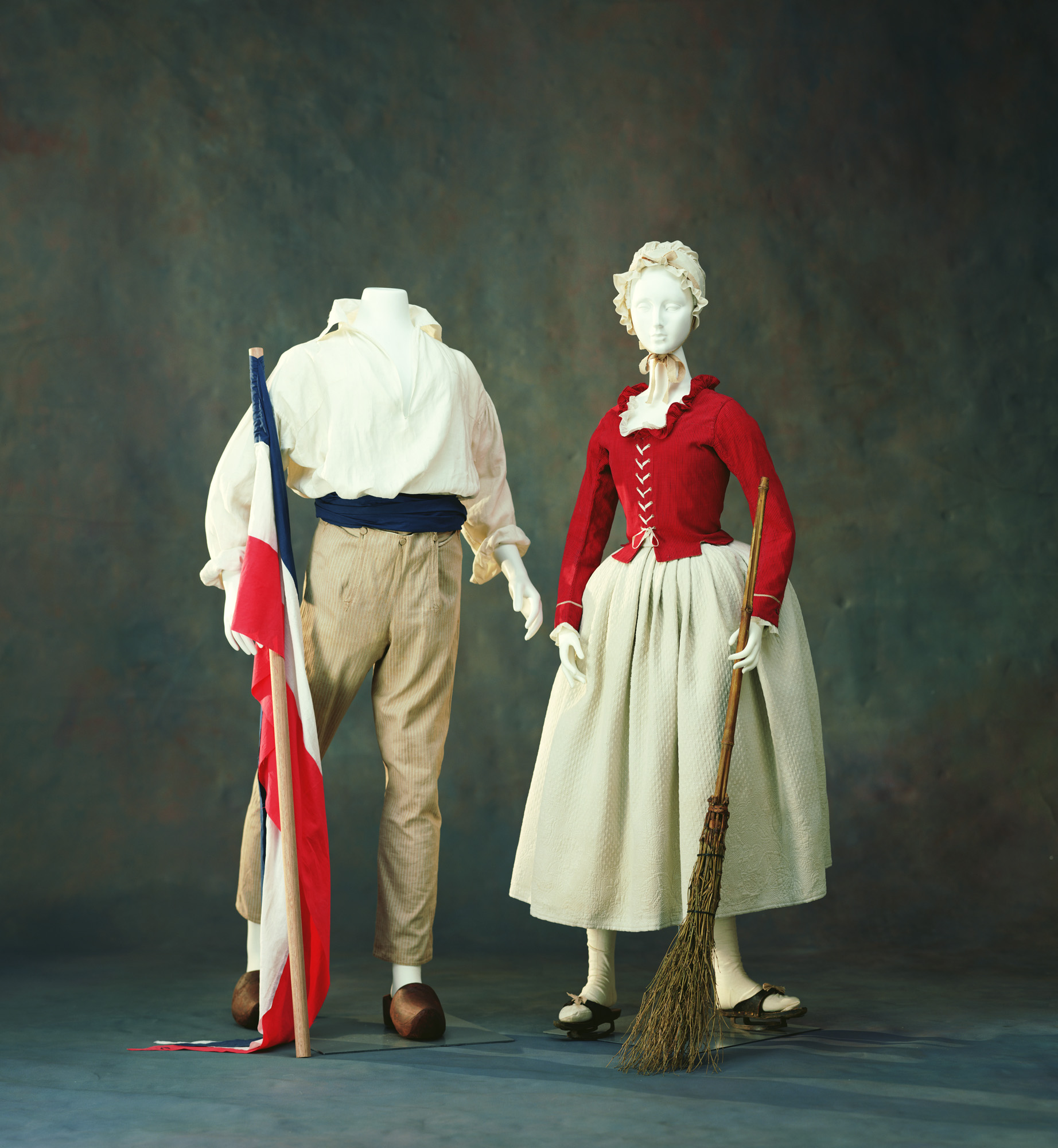 Man's Shirt, Trousers [Left] Jacket, Petticoat [Right]