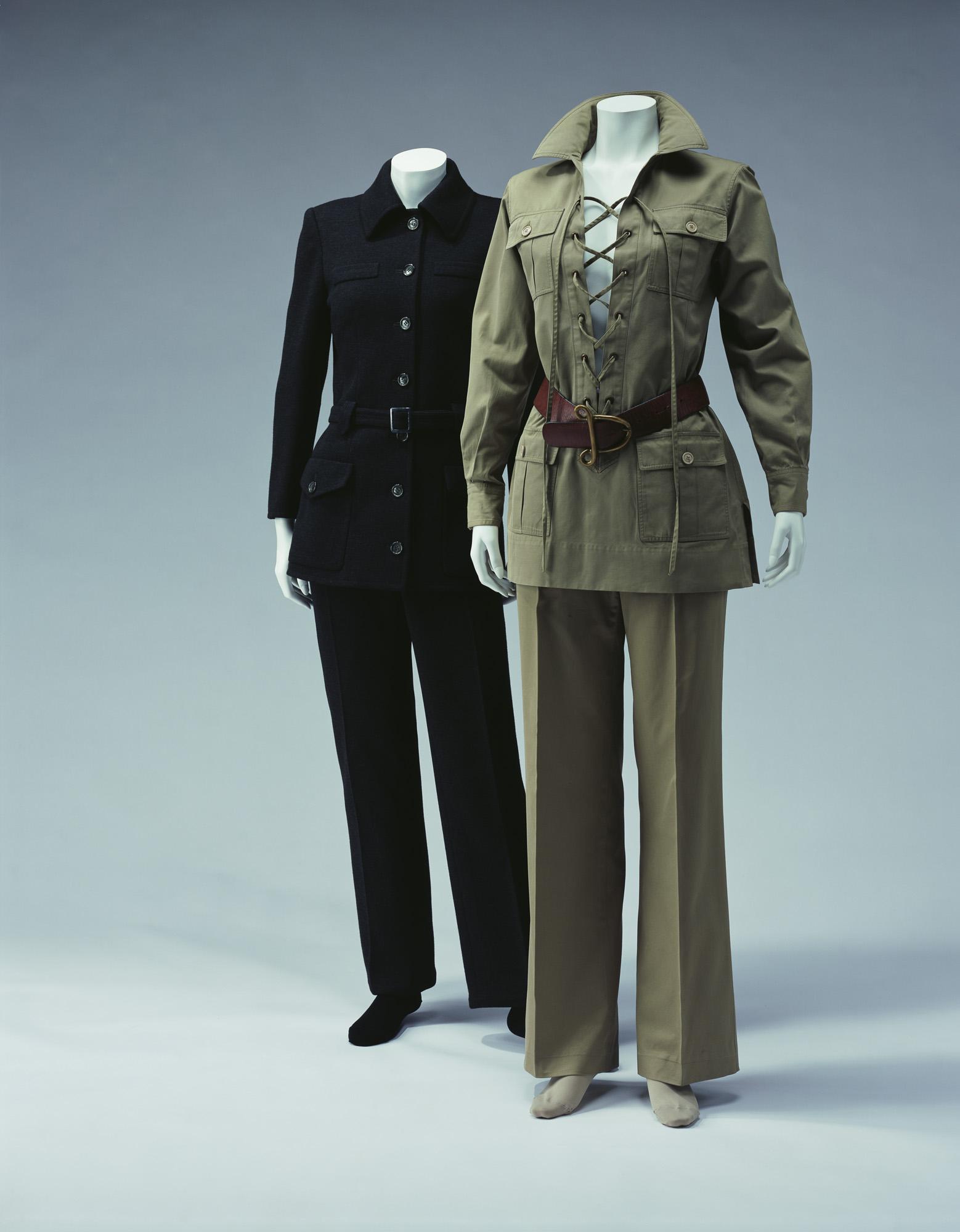 パンツ・スーツ「シティ・パンツ」[左] サファリ・スーツ[右]