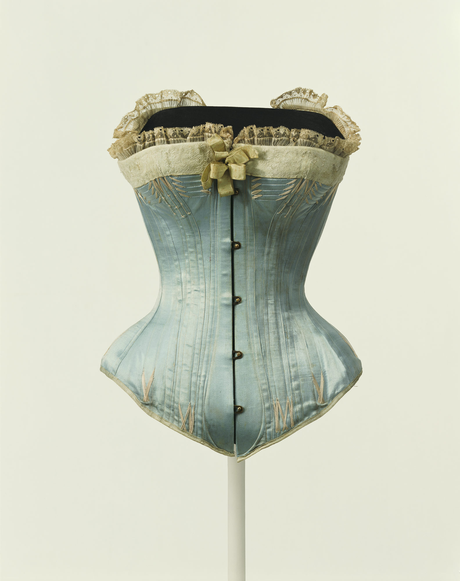 Inspired by Kelly: Antique blue satin corset